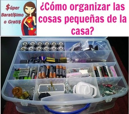 ¿Cómo organizar las cosas pequeñas de la casa? « Súper Baratísimo o Gratis #organization #containers #tips
