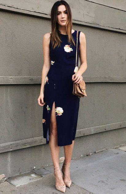 Brittany Xavier de Midi Floral com Scarpin