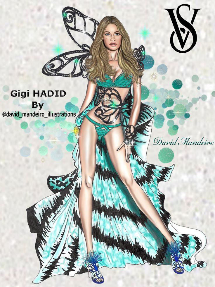 Gigi Hadid at the Victoria's Secret Fashion Show 2015 by David Mandeiro.