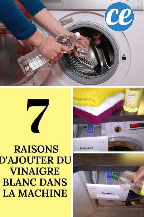 pourquoi mettre du vinaigre blanc dans la machine à laver le linge