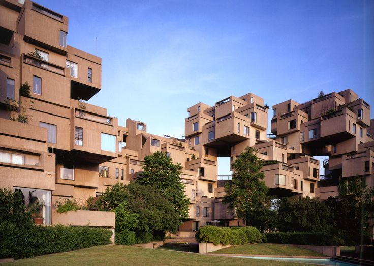 Moshe Safdie's experimental modular housing Habitat 67 in Montreal was his first ever built project
