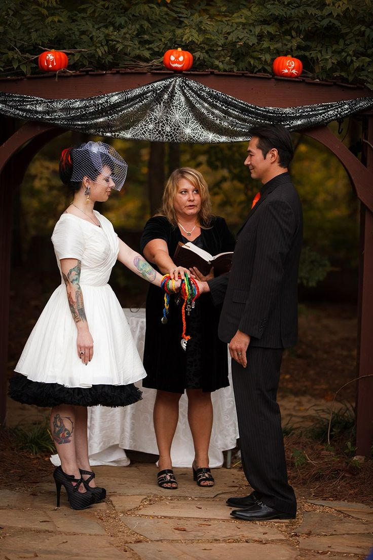 Nightmare Before Christmas wedding as seen on @offbeatbride