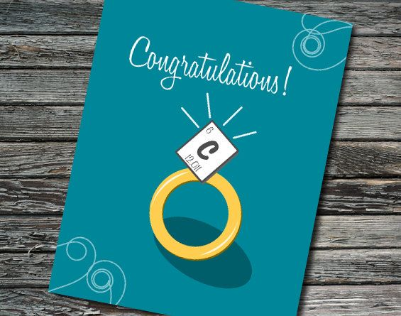 Carbon Periodic Table Nerdy Engagement Wedding by NerdyWordsGifts