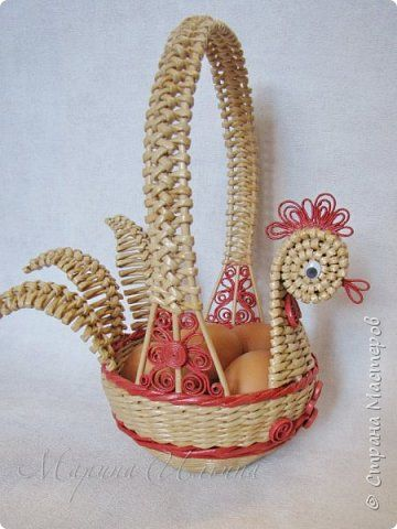 Craft product Easter Weaving Another chicken Newsprint Paper Tubes Photo 4