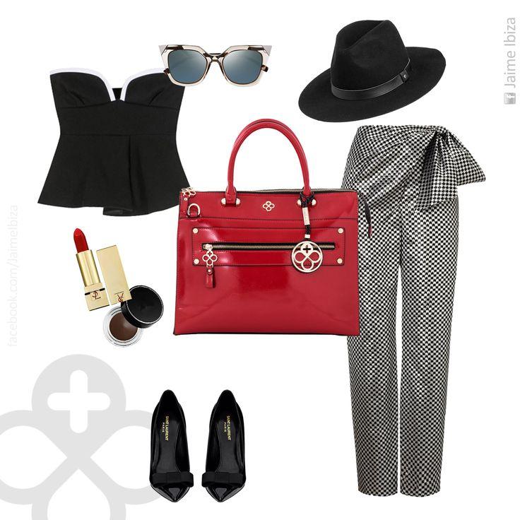 ¿Que te parece un bolso rojo para tu outfit blanco y negro? ¡Ya puedes tener el tuyo con un increíble 30% de descuento! Aprovecha que el Buen Fin llegó antes a Jaime Ibiza  Válido en nuestra tienda en línea www.jaimeibiza.com #JaimeIbiza #CapitalJaimeIbiza #bolso #outfit #pumps #handbag #purse