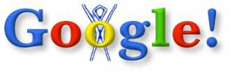 """Aug 30, 1998 - Burning Man festival - (Global) - The was the first google doodle ever. A stick figure drawing was placed behind the logo as a comical message to Google users that founders Larry and Sergey were """"out of office."""" They were attending the Burning Man festival in Nevada. The idea of decorating the company logo was such a hit that the official """"google doodle"""" was born."""