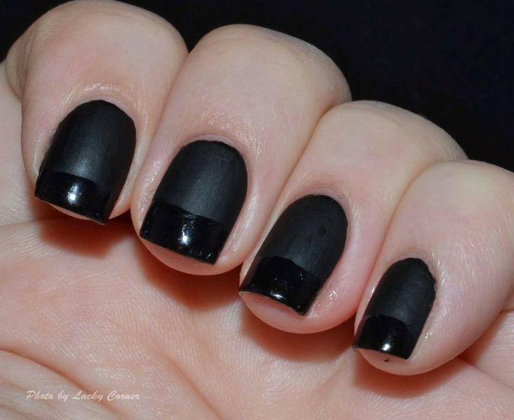 Lacky Corner: Nailart Sunday - Fransk Manikyr (French manicure)