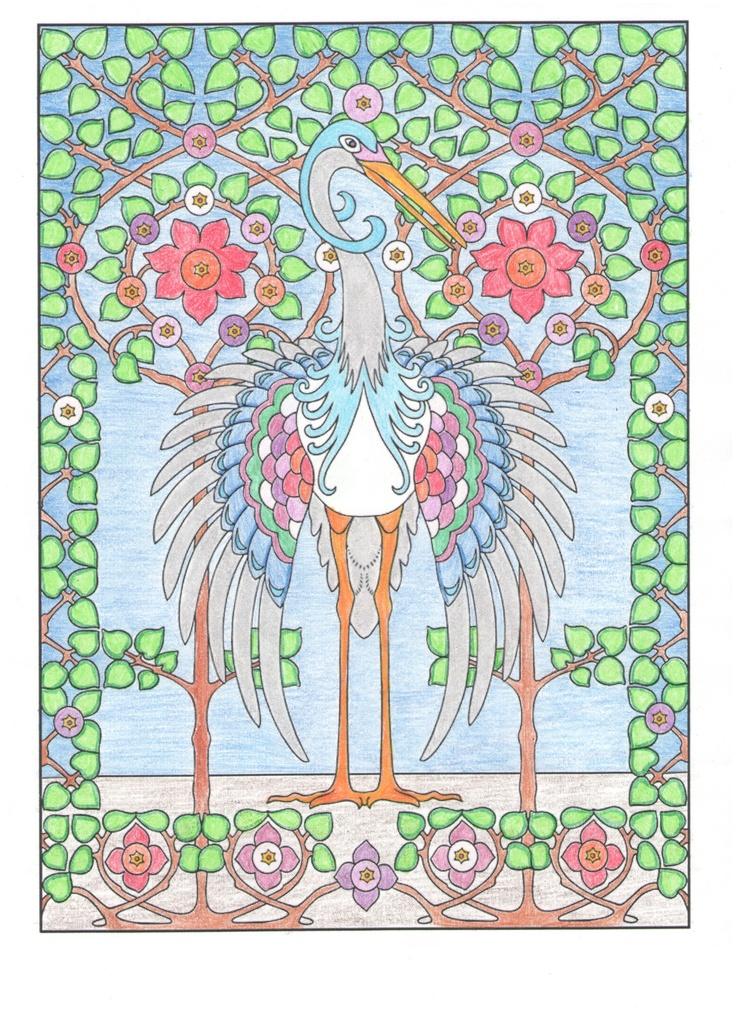 Jessica Eschen (18+ division) from Art Nouveau Animal Designs Coloring Book: http://store.doverpublications.com/0486488381.html
