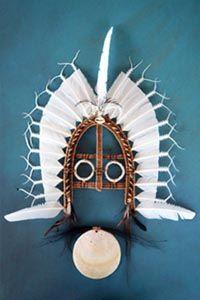 The kuril dhagun Indigenous Knowledge Centre at the State Library showcased the dhoeri (meaning headdress in the Kala Lagaw Ya language of the Central and Western Torres Strait Islands), the iconic Torres Strait headdress that completed the traditional costume worn by Torres Strait Islander warriors in battle.