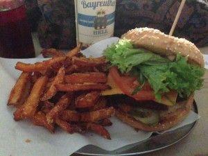 Berlin Vegan Guide - Schillerburger Vegan Burger with Sweet Potato Fries | Vegan Nom Noms