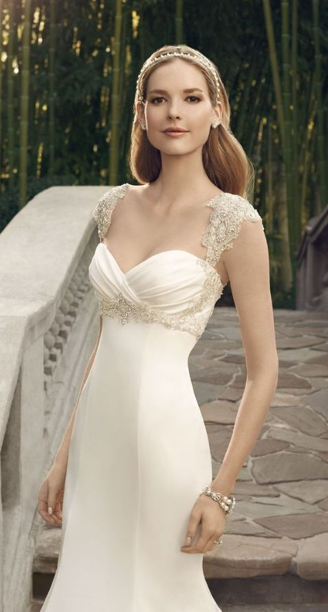 Featured Dress: Casablanca; Wedding dress idea.