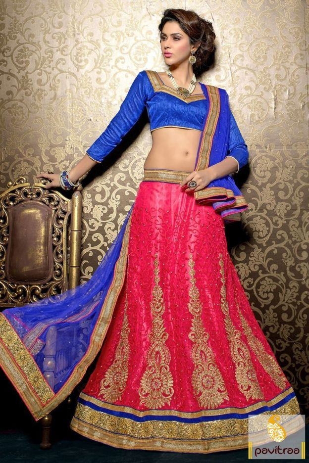 Buy Indian blue pink net silk designer lehenga choli online with discount deal. It is nicely designed with embroidery, stone and zari work for wedding, party and sangeet occasion. Purchase online blue color santoon lehenga choli for Karva Chauth and Diwali festival 2015-2016. #lehengacholi, #lehengastyle, #ghaghracholi, #chaniyacholi, #netlehengacholi, #bridallehengacholi, #designercholi, #discountoffer, #festivalcholi http://www.pavitraa.in/store/lehengha-choli/ callus:+91-7698234040