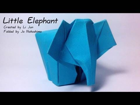 Origami Little Elephant (Li Jun) - YouTube