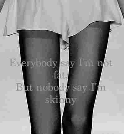 Feet together thighs apart. not fat isn't good enough