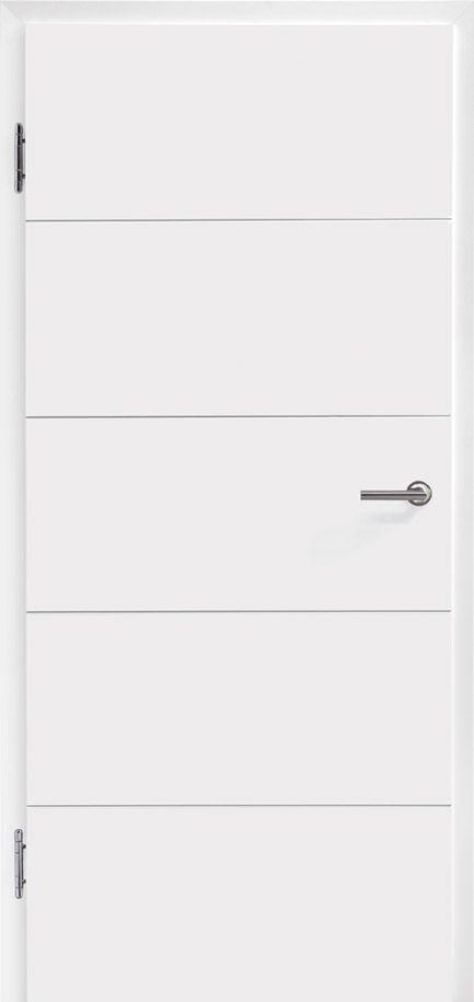 Unsere Signum Türen sind in vielen verschiedenen Designs erhältlich. Hierbei wird die V-Fuge aus- und aufgearbeitet und sorgt so für unaufdringliche Eleganz!