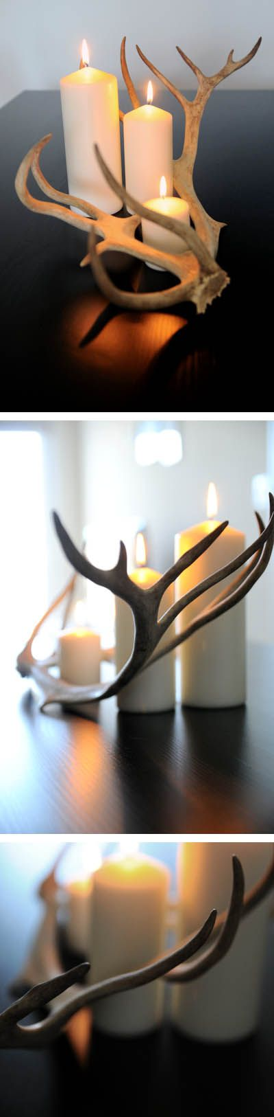 Antlers & Candles decor