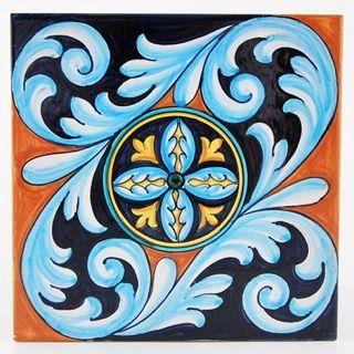 Deruta italian ceramic tiles - Tile 10