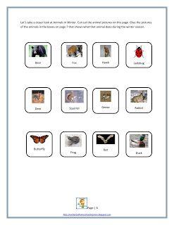 Animals In Winter Printable Mini Activity Unit
