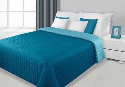 Tyrkysovo-modrý prehoz Eva je dostupný v 4 rozmeroch: 70x150, 170x210, 220x240 alebo 230x260 cm.