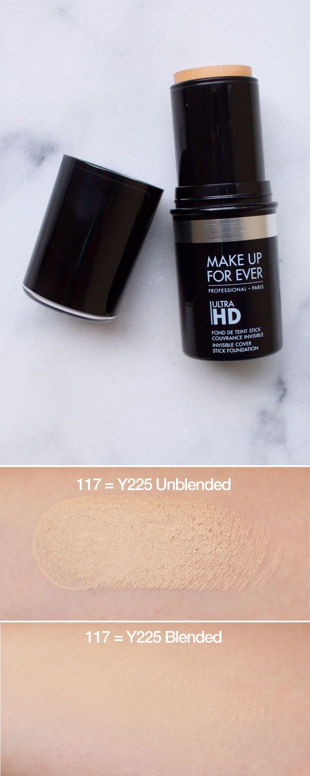 Make Up For Ever Ultra HD Invisible Cover Stick Foundation in 117 = Y225. http://beautyeditor.ca/2015/10/13/best-fall-makeup-products