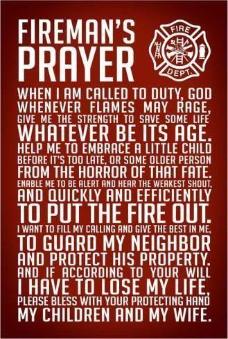 Fireman's Prayer                                                                                                                                                     More