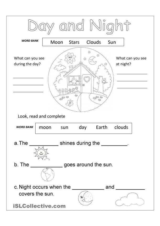 8 Day And Night Science Worksheet Free Science Worksheets Science Worksheets Kindergarten Worksheets