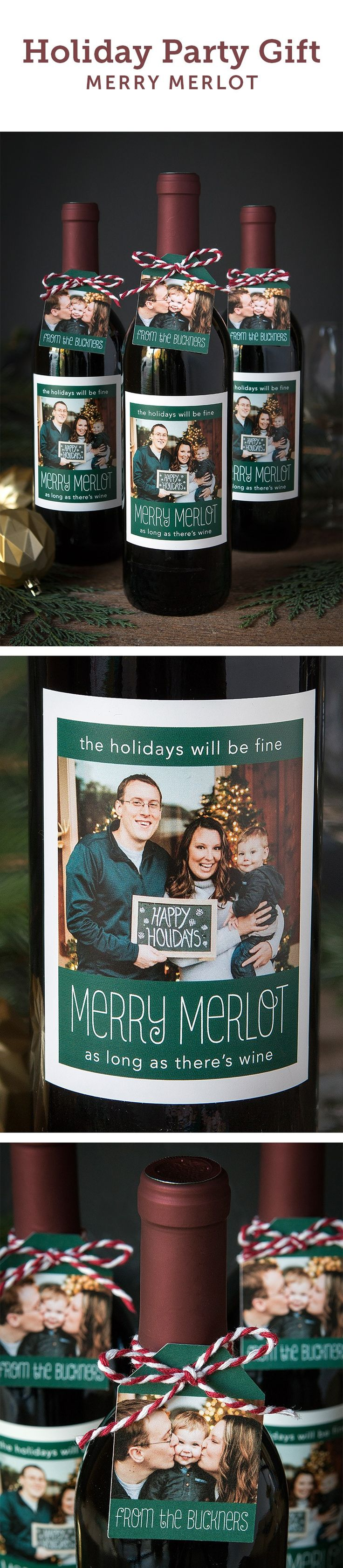 Personalize bottles of wine that your friends and family will love. Perfect for any holiday party!  Customize your labels at https://www.evermine.com/holiday_wine-labels/. There are hundreds of styles and colors to choose from, so you can pick one that fits your personality. You can order tags as well from https://www.evermine.com/holiday_gift-tags/. Include your holiday family photos for a unique touch!