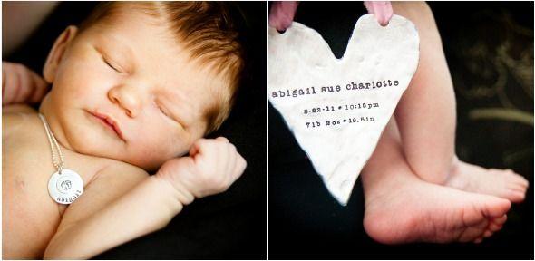Beautiful birth announcement idea!