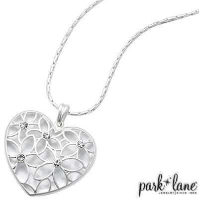 Precious Necklace - check out my matching earrings!!  - ** Click the pic to order today!! **  Park Lane , heart, silver, flower, love