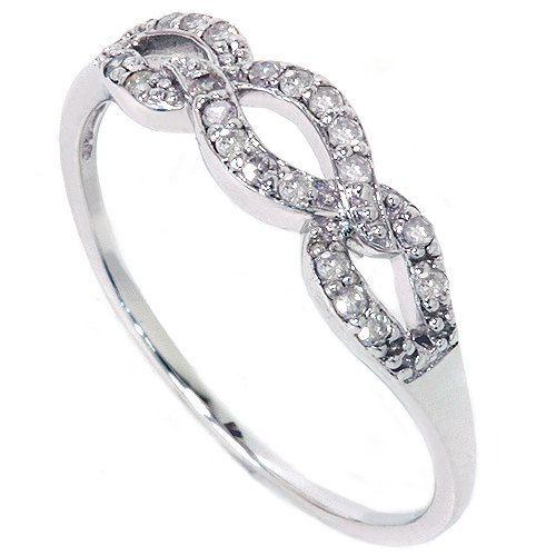 Diamond+Infinity+Ring+1/10CT+10K+White+Gold+by+Pompeii3+on+Etsy,+$149.00