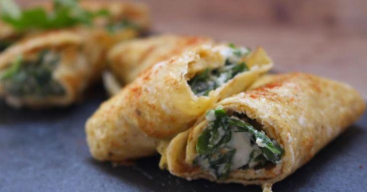 Descubre cómo preparar Rollitos de Rúcula y Queso de Cabra de manera fácil y sencilla. Aprende a cocinar con Recetas Fáciles y Reunidas