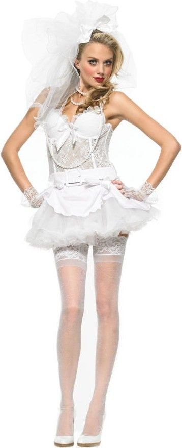 9 best virgin bride costumes images on pinterest bride for Sexy wedding dress costume
