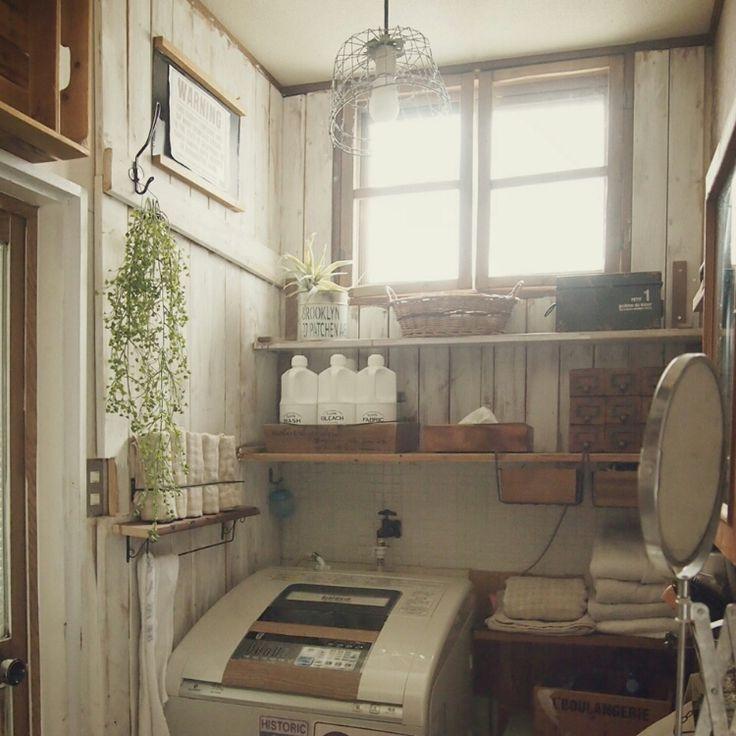 セリア/板壁/DIYが始まった場所/壁収納/サニタリー/雑貨…などのインテリア実例 - 2015-06-01 12:54:35 | RoomClip(ルームクリップ)