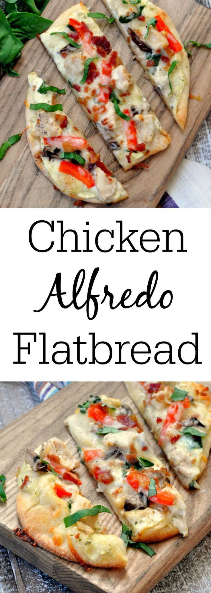 Chicken Alfredo Flatbread Pizza