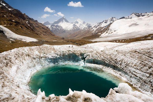 Love the glacial pool among mountains