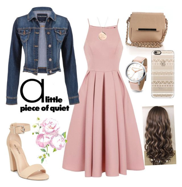 """rose dress"" by cotutiu-crina on Polyvore featuring Forever 21, Chi Chi, maurices, Call it SPRING, Casetify and Kate Spade"
