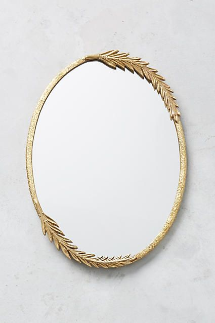 Anthropologie Olive Leaf Mirror ☽☯☾magickbohemian
