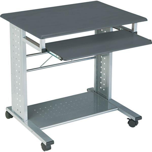 Tiffany Industries Empire Mobile Computer Desk, Gray Finish | Staples