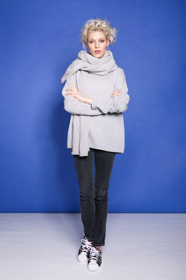 Szary sweter LeMat - LeMat-Butik - Swetry i bezrękawniki