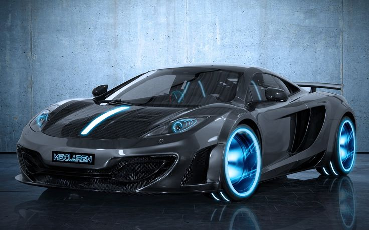 Black Cars Tron McLaren MP4-12C