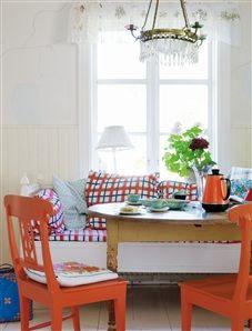 little charming scandinavian colourful house