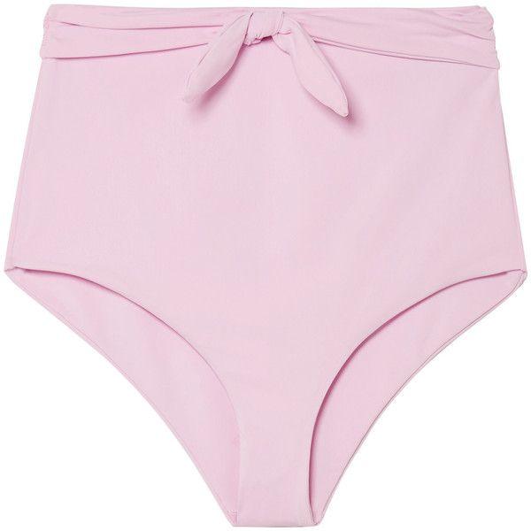 Mara HoffmanJay High-rise Bikini Briefs ($150) ❤ liked on Polyvore featuring mara hoffman