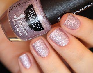 Esmalte #Lumina da Pausa para Feminices | Glitter Pink Nails | Nail art | Sand Nail Polish | Esmalte Texturizado Rosa da Studio 35 | Chique | Elegante | Reveillon | by @morganapzk