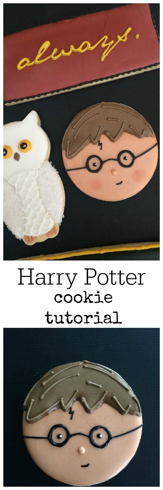 You're a Wizard, Harry! | Sweet Jenny Belle - easy sugar cookie decorating, dessert recipe and fun cupcake recipes