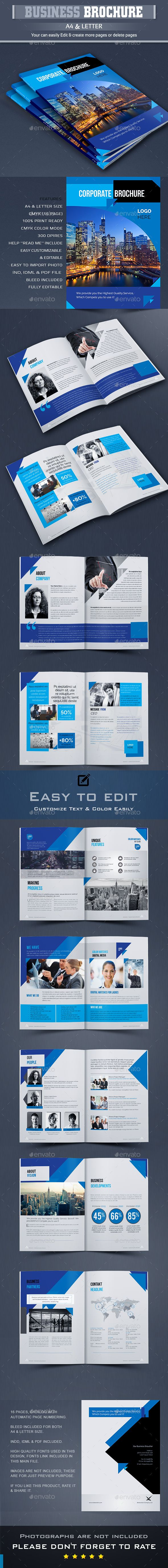 #Corporate #Business #Brochure #Template - #Company Brochures #Print #Design. Download here: https://graphicriver.net/item/brochure/19635822?ref=yinkira