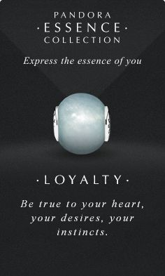 Express the essence of you. #PANDORAessencecollection #PANDORAcharm #Loyalty