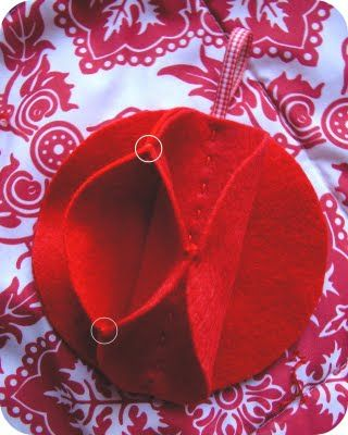 zakka life: Craft Project: Felt Christmas Ornament