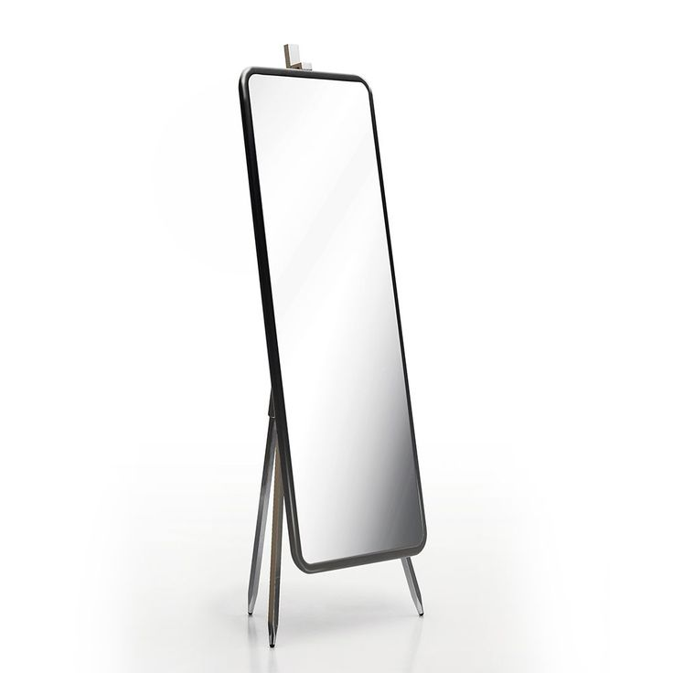 Argo Furniture High-end Modern Design 68-inch Medona Cheval Mirror (Silver aluminum Glossy Dark Grey frame mirror) (Cast Iron)