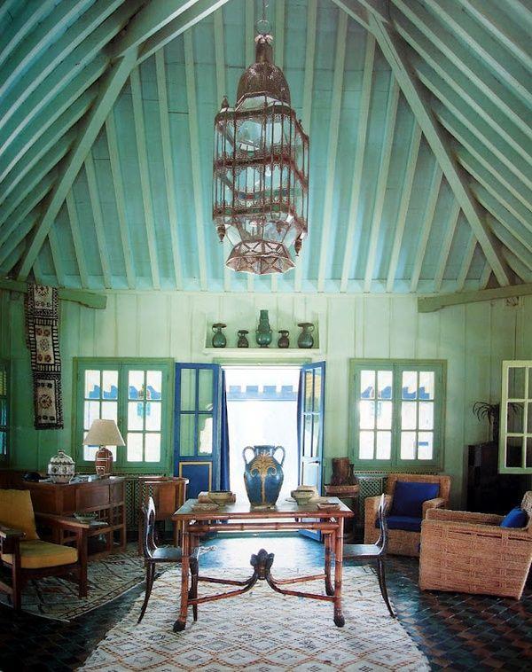 YSL's Marrakech house; Villa Oasis. Designed by Bill Willis & Jacques Grange