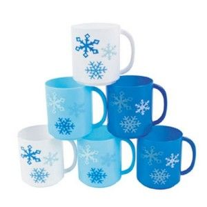 Winter Wonderland Snowflake Mugs